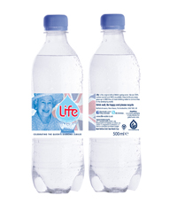 Photo of Queens Bottle 500ml front and back 300dpi