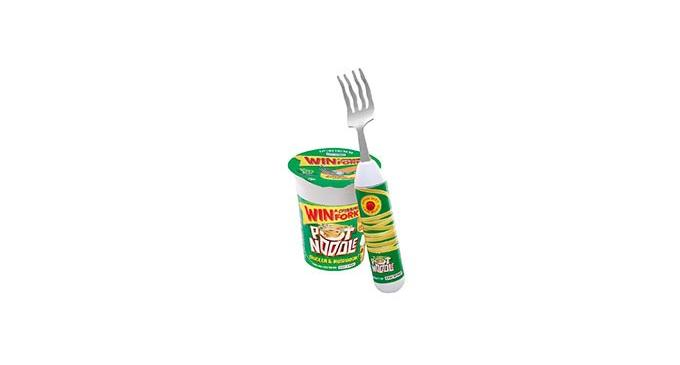 pot noodle set fork mug Set Spinning Noodle Mug and Mushroom Pot and Fork Chicken
