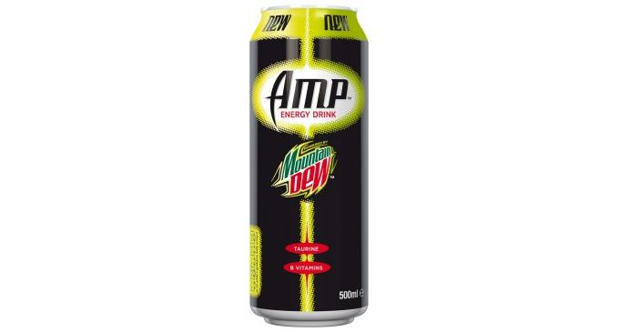 New Amp energy drink from Mountain Dew